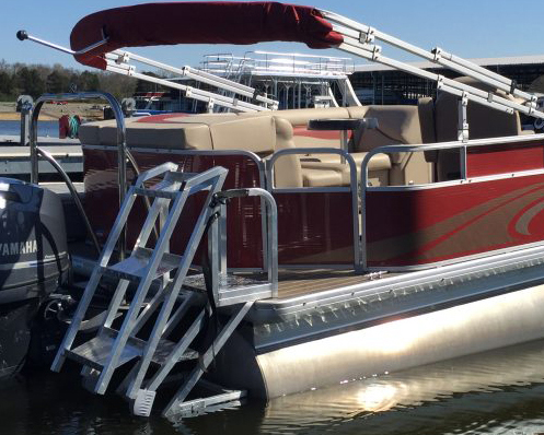 Side Mount Pontoon Boat Ladder